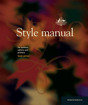 Cover of Style Manual for Authors